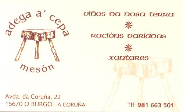Mesón Adega a´Cepa en El Burgo