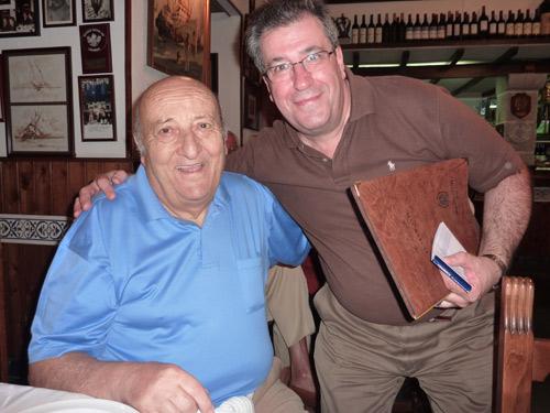 Fefé Del Río con Julio en el agosto de 2010