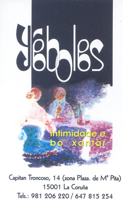 Tarjeta de visita del Yéboles