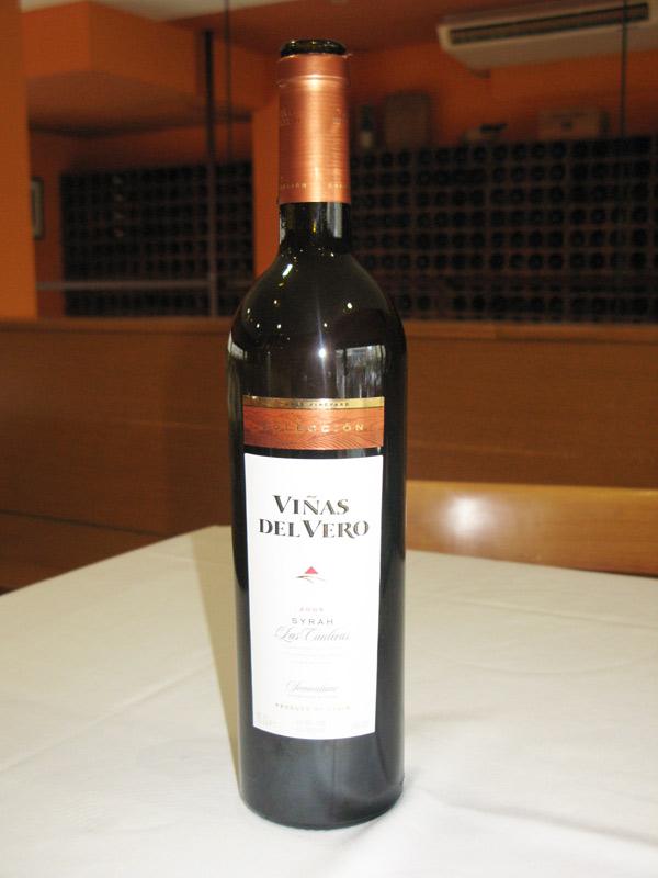 Vino de D.O. Somontano de Viñas del Vero