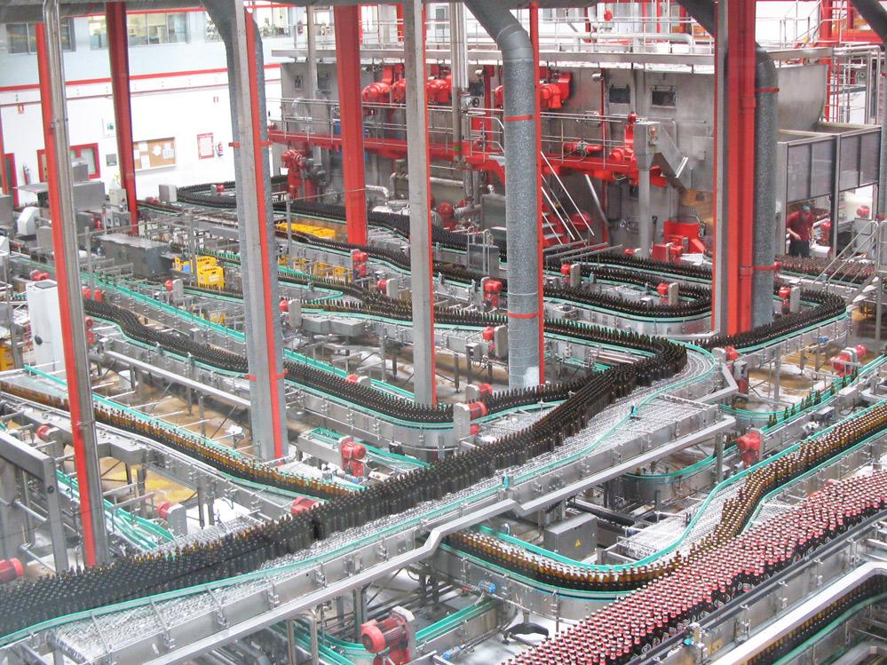 Una vista del interior de la fabrica