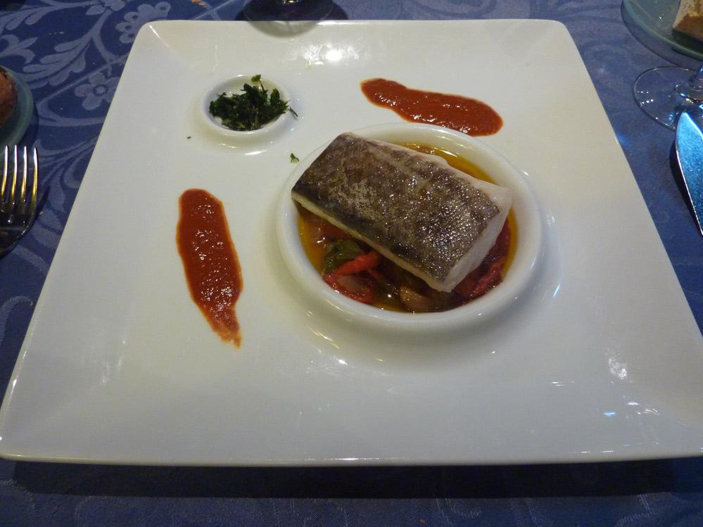 bacalao confitado con dúo de sabores