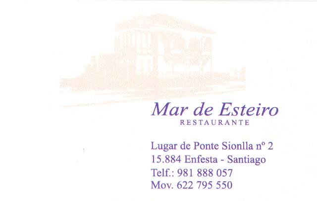 Restaurante Mar de Esteiro en Santiago de Compostela