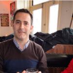 Juan con su hijo en el Café Dyrenhaven en Copenhage