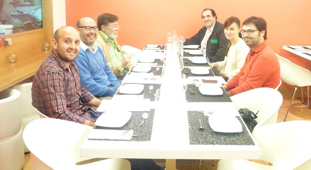 Ganadores del IX Concurso de Tapas Picadillo en La Coruña. Miembros del Jurado