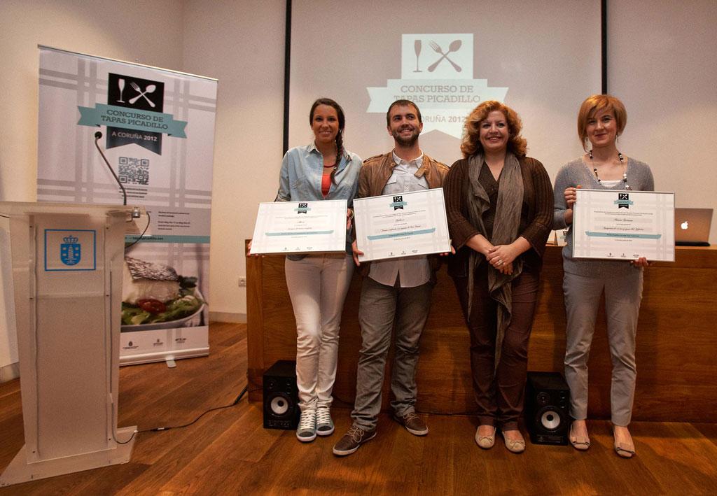 Los ganadores del Concurso de Tapas Picadillo en La Coruña