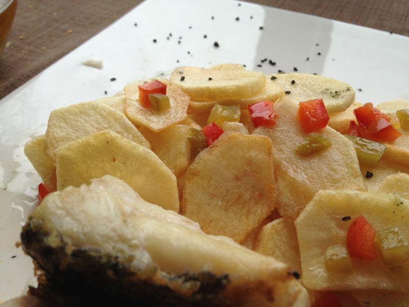 Restaurante Furna en la vila de Caion en Laracha. Robaliza Salvaxe