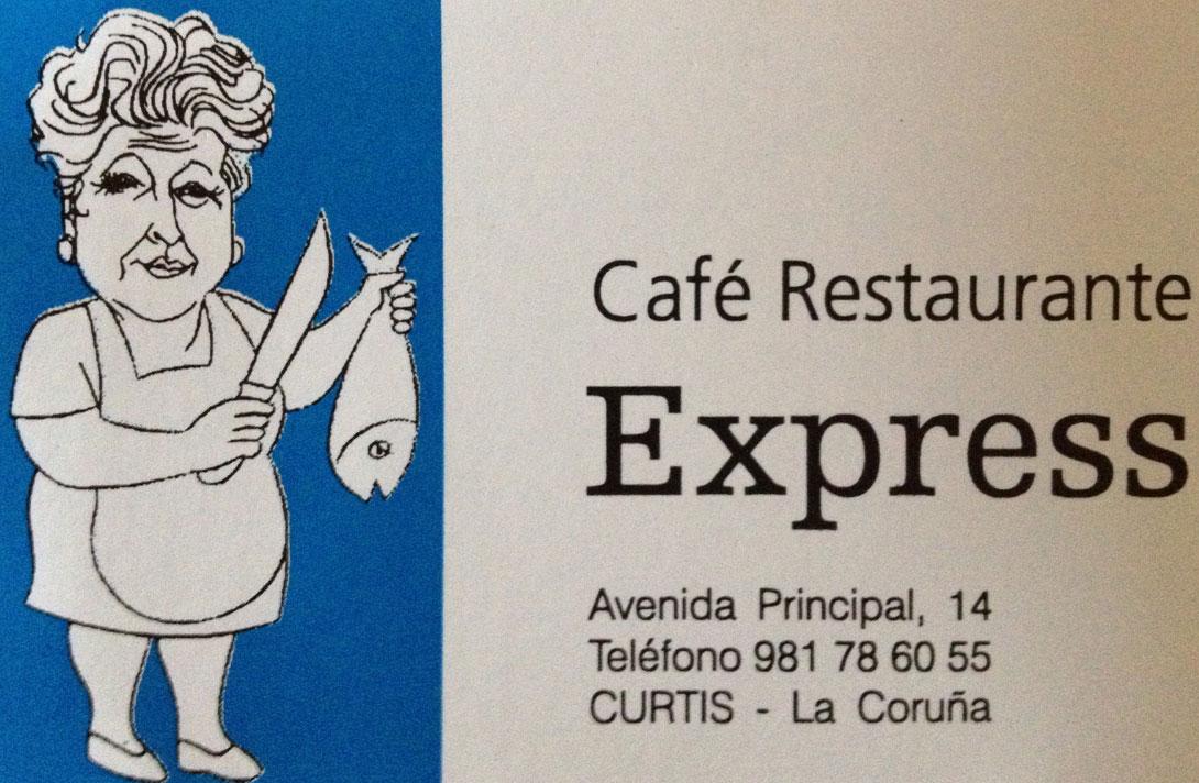 El Express de Curtis un clásico en la ruta. Tarjeta de visita