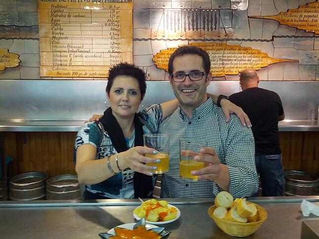 La Mejillonera en San Sebastián, brindando