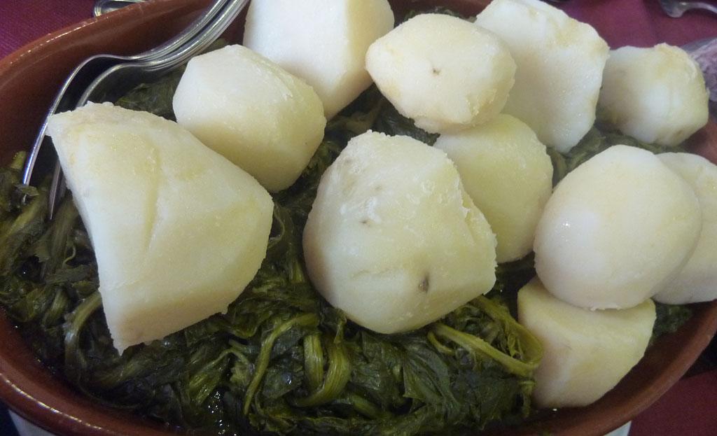 Grelos de Monfero, patacas de Coristanco