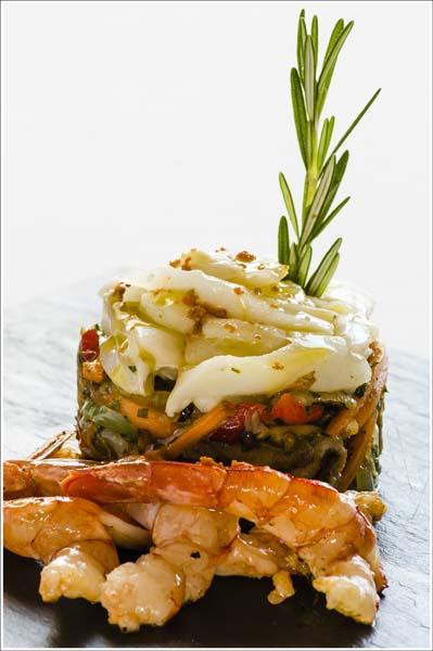 Ensalada templada de verduritas de temporada estofadas con lascas de bacalao confitado - Comei Bebei - jornadas bacalao-2