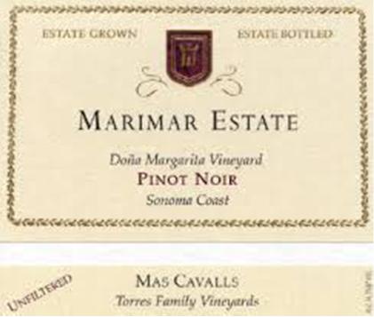 Marimar Estate Doña Margarita Vineyard Pinot Noir Sonoma Coast, California 2006
