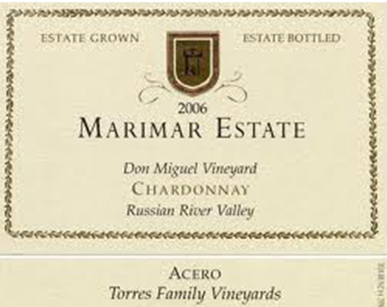 Marimar Estate Don Miguel Vineyard Chardonnay Acero Russian River Valley, California 2011
