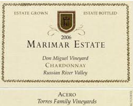 Marimar Estate Don Miguel Vineyard Chardonnay Acero Russian River Valley, California 2011