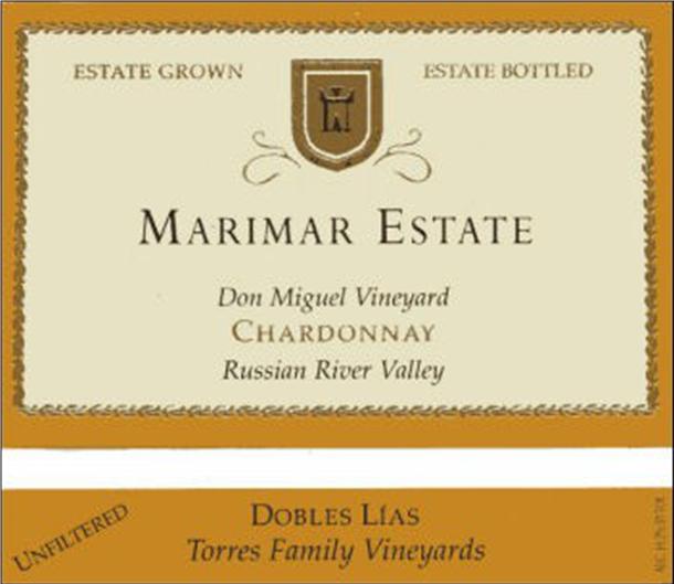 Marimar Estate Don Miguel Vineyard Chardonnay 'Dobles Lías' Russian River Valley, California