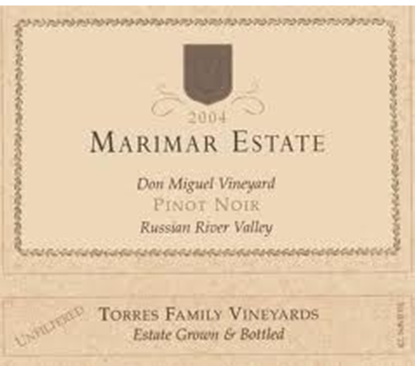 Marimar Estate Don Miguel Vineyard Pinot Noir Russian River Valley, California