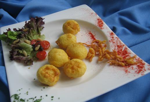 Buñuelos de bacalao de aperitivo