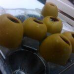 Aceitunas rellenas de gel de vermut, by Chisco