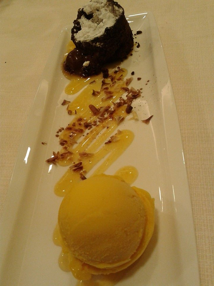 Namoreira restaurante en La Coruña - coulant de chocolate
