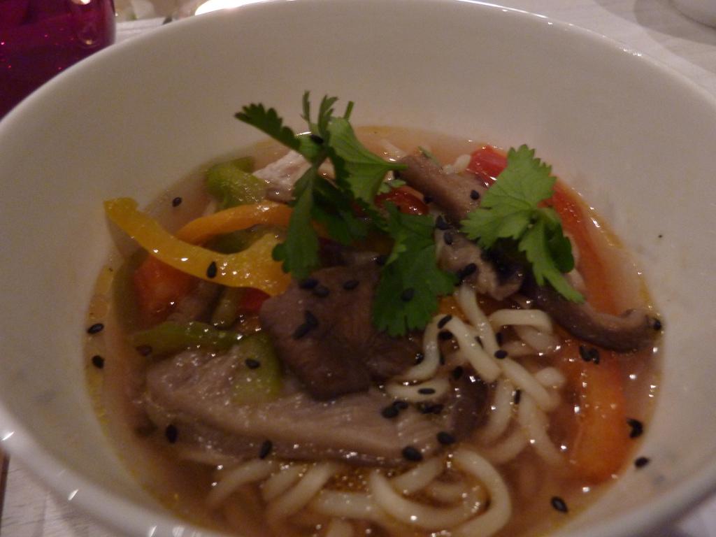 Sopa de miso con setas y noodles