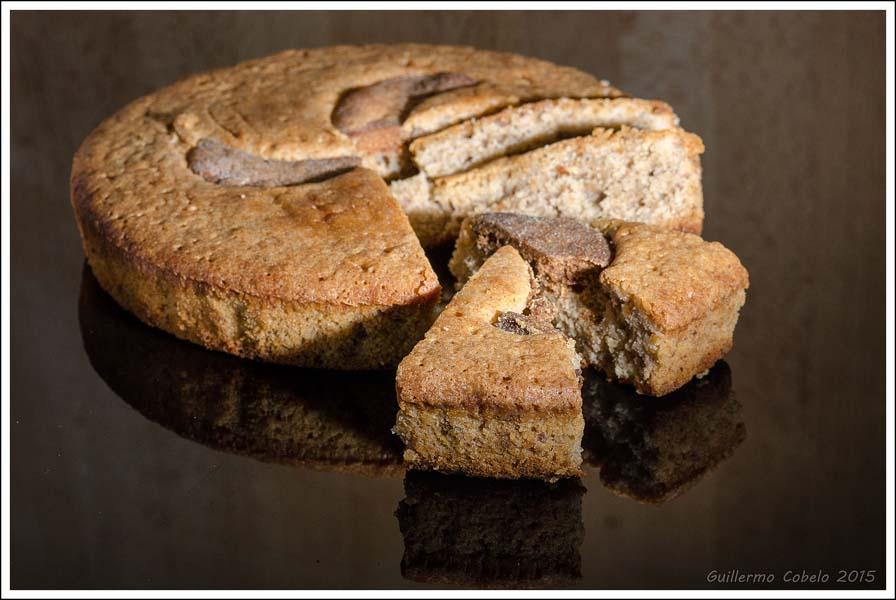 Terruño en la tarta celta con castaña, nuez y miel