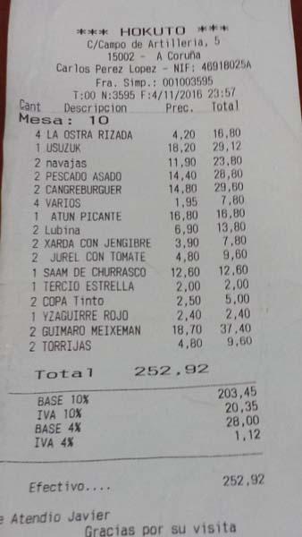 Taberna Hokuto un gastrojapo en La Coruña