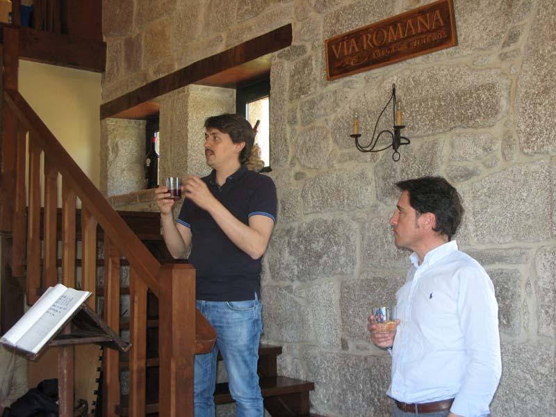 Ribeira Sacra motivo de xuntanza en la Bodega Vía Romana
